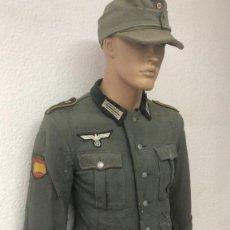 Militaria: UNIFORME COMPLETO ORIGINAL ALEMAN DE DIVISION AZUL , ,GUERRERA Y PANTALON. Lote 209322120