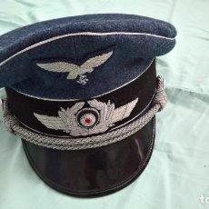 Militaria: GORRA PILOTO ALEMAN..LUFTWAFFE..REPRO ,ALTA CALIDAD.BORDADO PLATA. Lote 217647521