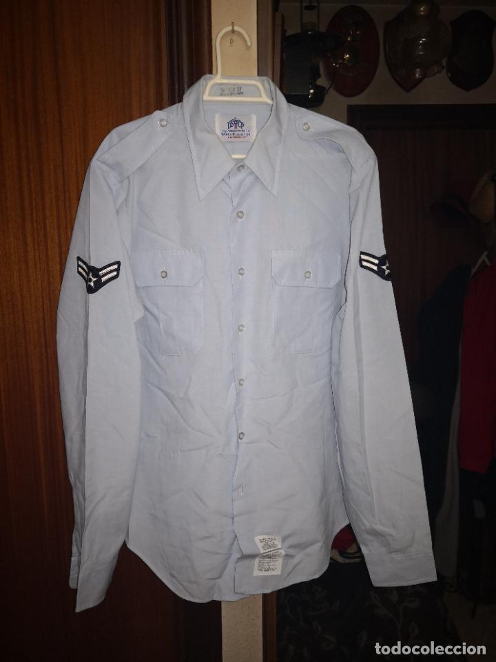 USAF. US AIR FORCE. CAMISA DE MANGA LARGA DE SERVICIO. (Militar - Uniformes Internacionales)