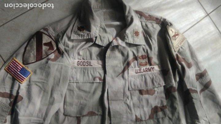 TENIENTE CORONEL UNIFORME ARIDO U.S. ARMY, IRAK GUERRA DEL GOLFO 1ST CAVALRY CON PARCHE PARACAIDISTA (Militar - Uniformes Extranjeros )