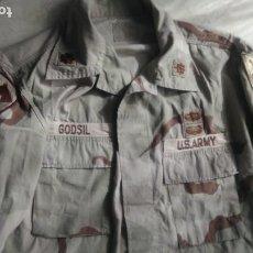 Militaria: TENIENTE CORONEL UNIFORME ARIDO U.S. ARMY, IRAK GUERRA DEL GOLFO 1ST CAVALRY CON PARCHE PARACAIDISTA. Lote 222224645