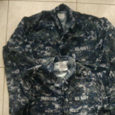 Militaria: 2 GUERRERAS UNIFORME USN US NAVY CAMUFLADO AZUL PIXELADO. Lote 227804015
