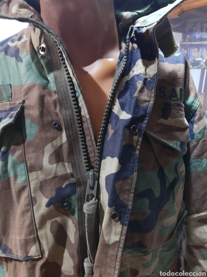 Militaria: Chaqueta M65 US Army Woodland M española - Foto 8 - 234914825
