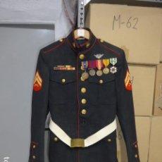 Militaria: ANTIGUA GUERRERA DE MARINE AMERICANO DE GUERRA DE VIETNAM, CON MEDALLAS, PASADOR, CINTURON.... Lote 253935950