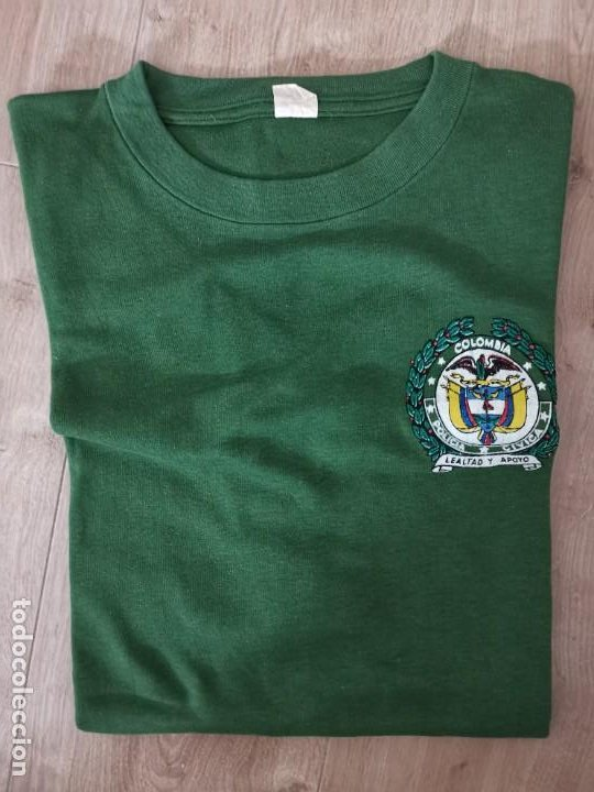 Militaria: LOTE MILITAR/POLICIAL:CAMISA+CAMISETA/POLICIA CIVICA COLOMBIA - Foto 3 - 261295375