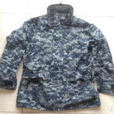 Militaria: PARKA ANORAK GORETEX CHAQUETON MILITAR US NAVY CAMUFLAJE AZUL PIXELADO USN MARINA USA TALLA GRANDE. Lote 269041708