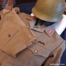 Militaria: UNIFORME JAPONÉS II GUERRA MUNDIAL INFANTERÍA CON PANTALÓN,CASCO Y PISTOLERA. Lote 278832243