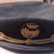 Militaria: GORRA DE PLATO DE INGENIERO DE PUERTOS, CAMINOS Y CANALES. GALLETA BORDADA.. Lote 13281888