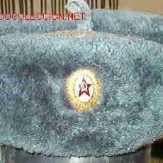 Militaria: CHAPKA RUSA DE OFICIAL, AZULADA.. Lote 17458294