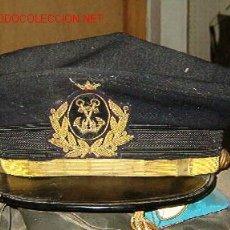 Militaria: GORRA PLATO DE MARINA MERCANTE CON CORONA. Lote 26608572