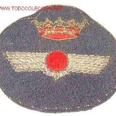 Militaria: GALLETA DE GORRA DE PLATO BORDADA, DE AVIACIÓN. Lote 2027953