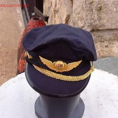 Militaria: GORRA DE PLATO PILOTO SUECO. Lote 17262485
