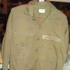 Militaria: CAMISOLA DE MANGA LARGA, AÑOS 80, TALLA 15 1/2 X 35. Lote 5419174