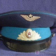 Militaria: GORRA DE PLATO DE GALA, OFICIAL DE AVIACIÓN DE LA ANTIGUA UNIÓN SOVIÉTICA. Lote 62132571