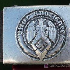 Militaria: ALEMANIA -SEGUNDA GUERRA-HEBILLA HITLER JUGEND (BLUT UND EHRE)+CORREAJE+CERTIFICADO AUTENTICIDAD. . Lote 27008146