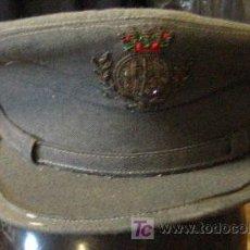 Militaria: GORRA DE PLATO CON INSIGNIA BORDADA. Lote 14016911