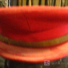 Militaria: GORRA DE PLATO ROJA. Lote 12049505
