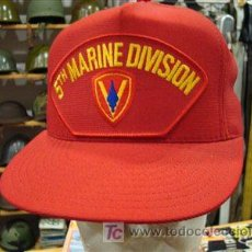 Militaria: ESTADOS UNIDOS. GORRA DE VISERA TIPO BÉISBOL. MARINES USMC 5TH MARINE DIVISION. . Lote 7292062