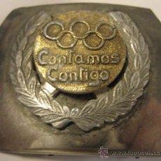 Militaria: HEBILLA DEPORTIVA CONTAMOS CONTIGO. Lote 8032654