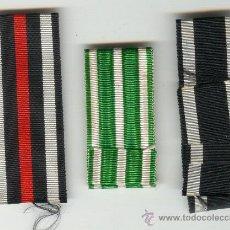 Militaria: TRES CINTAS PARA MEDALLAS CONDECORACIONES ALEMANIA ALEMANAS. Lote 25355579