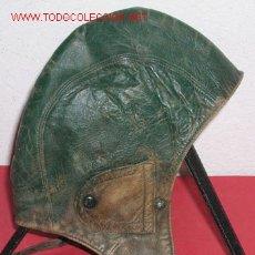 Militaria: GORRO PILOTO-MOTORISTA DE PIEL. Lote 2558818