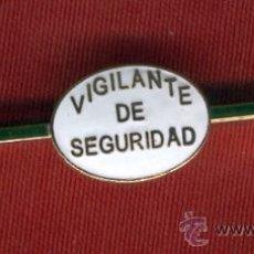 Militaria: PASADOR DE CORBATA VIGILANTE DE SEGURIDAD. Lote 35224149