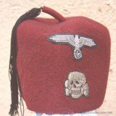 Militaria: FEZ DE LAS WAFFEN-SS. COLOR ROJO. IIGM. RARO.. Lote 23655502