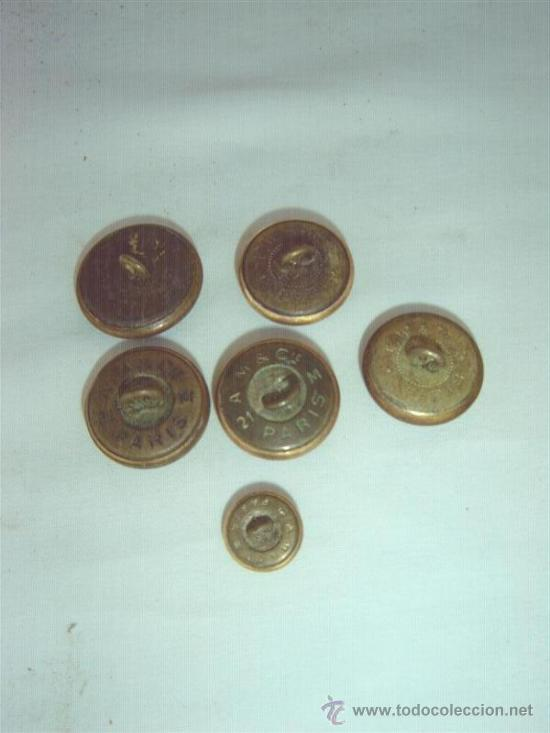Militaria: 6 botones militar marina - Foto 2 - 10332371