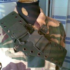 Militaria: CINTURON DE FAENA VERDE KAKI, MIDE 9 CNTS DE ANCHO POR 115 CNTS DE LARGO. Lote 35306992