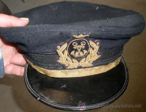 Militaria: Gorra plato de Marina Mercante con corona - Foto 5 - 26608572