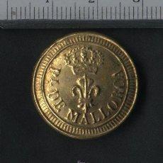 Militaria: BOTÓN MILICIAS PROVINCIALES DE MALLORCA. 2º MODELO. TAMAÑO GRANDE. 1824-1841.. Lote 21890442