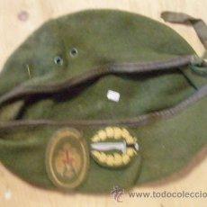 Militaria: BOINA DE LA COES, PARCHE SUELTO, NO LLEVA TALLA, MIDE 51 CM DE PERÍMETRO INTERIOR. Lote 13837962