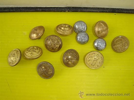 Militaria: botones militares en metal dorado de distintos ejercitos - Foto 2 - 13977110