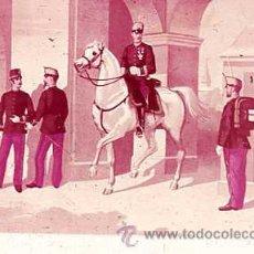 Militaria: DIAPOSITIVA DEL EJERCITO Y ARMADA DE ESPAÑA AÑO 1884 Nº6. Lote 14005086