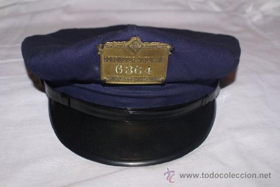 Gorra de taxista de barcelona años 60 con el es - Vendido en ...