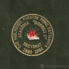 Militaria: 2 ESCUDOS BORDADO DE CAP.NOB.HOMES DE PARATGE PRINC.DE CATALUNYA 986-1994. Lote 18286046