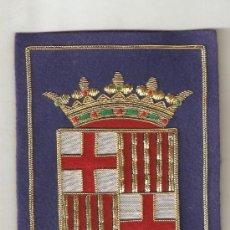 Militaria - ESCUDO DE BARCELONA BORDADO A MANO CON APLICACIONES DE CORDELERIA (13.5 CMS. DE ALTO) - 54220566