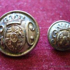 Militaria: 2 BOTONES DE LA GUARDIA CIVIL ALFONSO XIII. Lote 26803266