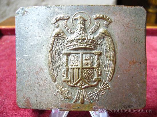 HEBILLA DE CINTURÓN DE LA GUARDIA CIVIL - ÉPOCA FRANCO (Militar - Cinturones y Hebillas )