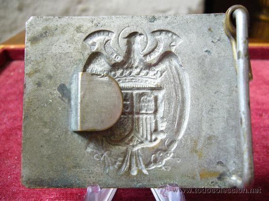 Militaria: Hebilla de cinturón de la guardia civil - época Franco - Foto 2 - 26896614