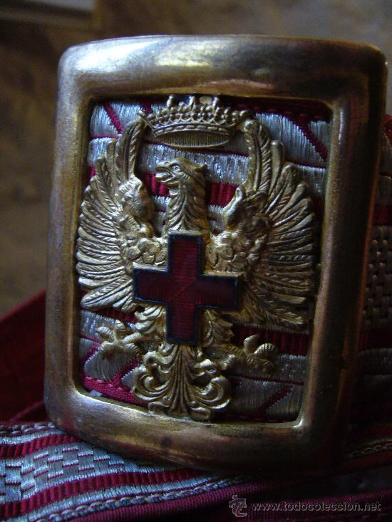 Militaria: Cinturón para oficiales de la cruz roja, época Franco - Foto 2 - 26229783