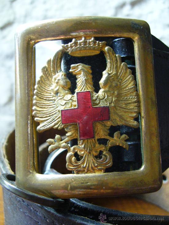 Militaria: Cinturón de la cruz roja española - época Franco - Foto 2 - 26896615