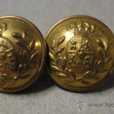 Militaria: LOTE DE 2 BOTONES DE GORRA DE PLATO. Lote 18517304