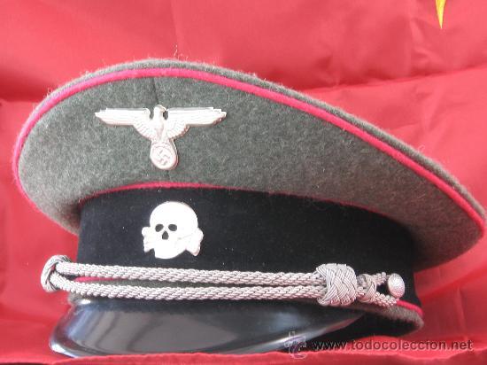 GORRA DE OFICIAL DE PANZER DE LAS WAFFEN SS, RÉPLICA (Militar - Boinas y Gorras )
