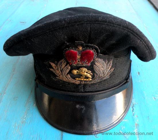 Militaria: ANTIGUA GORRA DE PLATO VISERA INCLINADA DE PILOTO DEL EJERCITO DEL AIRE INGLES - INGLATERRA - RAF - - Foto 2 - 27339266