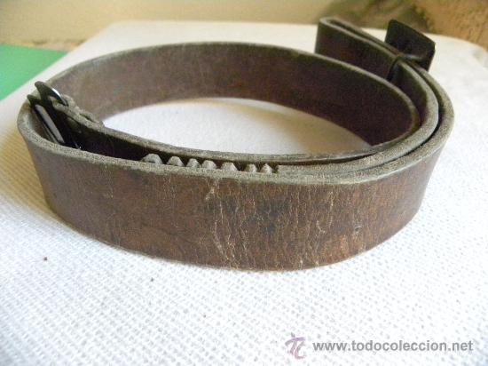Militaria: Falange Española cinturón de cuero con hebilla época Franco.-Ernesto Martínez.-(Artillería) - Foto 3 - 26723724