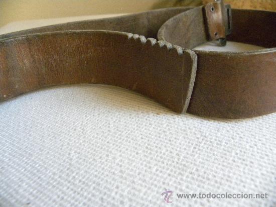 Militaria: Falange Española cinturón de cuero con hebilla época Franco.-Ernesto Martínez.-(Artillería) - Foto 5 - 26723724