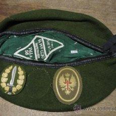 Militaria: BOINA VERDE, TALLA 56. Lote 23445706