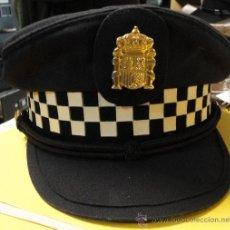Militaria: GORRA DE PLATO DE POLICÍA MUNICIPAL.. Lote 25738648
