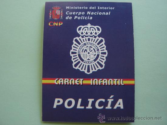 carnet de polic a nacional infantil del minis comprar